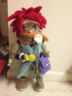 Chrono from Chrono Trigger crochet. So well done!