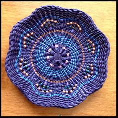 Waxed linen basket by Mary McAdam... Gorgeous! *****Judy Wilson design