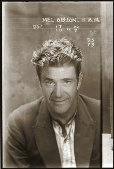 Celebrity mugshot time travel
