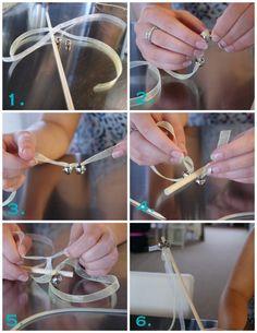 Ribbon/bell wands
