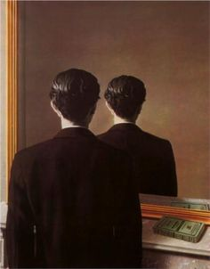 """Rene Magritte, """"Not to be reproduced"""".  His art is so magical. Dali is overrated, but Magritte is just perfect."""