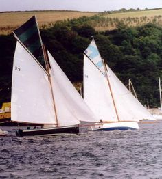 Boats sailing on the River Fowey, Cornwall