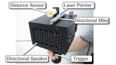 Speech jammer device -renders you incapable of forming coherent sentences. The effect is called Delayed Auditory Feedback