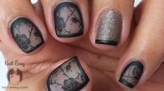 Black Rose Nails