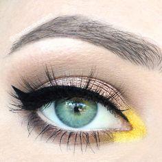 Pop o' Lemon Drop! – Makeup Geek  -homecoming(lid), latte. mocha(crease,lower lash), lemon drop (chrome)