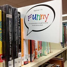 The Show Me Librarian: Read Me! Blurb Bubbles for Kids Great idea for our book recommendations!
