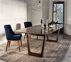 dining table with emperador marble top and walnut base tables rh pinterest com dining room tables designs Dining Room Table Plans DIY