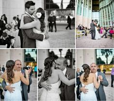 Bride & Groom First Dance ~ Father & Bride Dance beautiful & emotional collage wedding coordinated by- Ana Stenkoler  www.exquisiteaffaires.com