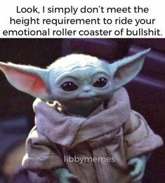 Yoda Funny, Yoda Meme, Funny Penguin, Funny Relatable Memes, Funny Jokes, Hilarious, Stupid Funny, Funny Cute, Funny Stuff