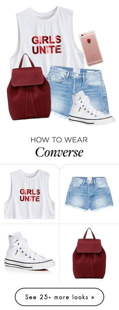 """Untitled #2358"" by pageinabook on Polyvore featuring Frame, Converse, Mansur Gavriel and ETUÍ"
