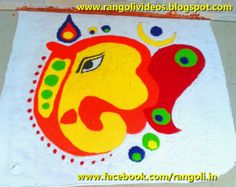 Diwali Rangoli , Kolam , Designs Images Ganesha Rangoli, Diwali Rangoli, Ganesha Painting, Kolam Designs, Kids Rugs, Collections, Traditional, Blog, Inspiration