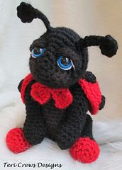 Cute Ladybug Crochet Pattern by Teri Crews This pattern is available as a free Ravelry download