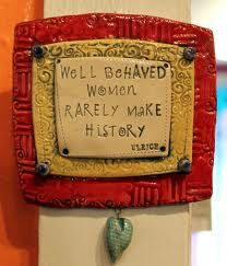 Well behaved women rarely make history. Ceramics Projects, Clay Projects, Pottery Tools, Pottery Ideas, Handmade Tiles, Handmade Art, Ceramic Tools, Clay Tiles, Paperclay