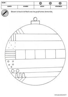 was einfach alles verändert Das Décore les boules de noël Graphisme Maternelle Petite section Moyenne section Cycle 1 Pass Education Kennst du das. Christmas Math, Christmas Tree Crafts, Preschool Christmas, Christmas Activities, Christmas Balls, Activities For Kids, Crafts For Kids, Noel Christmas, Line Tracing Worksheets