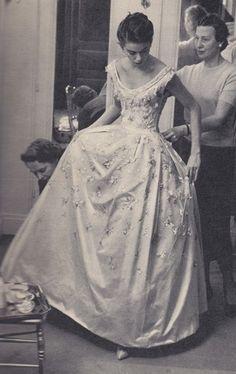 circa 1958 - Christian Dior Wedding Gown,