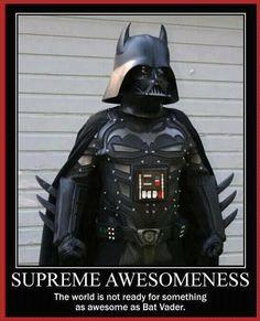 Bat Vader? Darth Man...Bat-mitz-Vader...screw it...