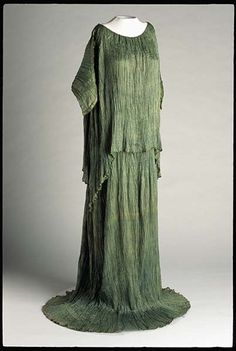 The Crawley ladies of #DowntonAbbey would feel right at home in this week's #TextileTuesday offering. This ca. 1920–1929 moss green silk tea gown with Venetian glass beads belonged to Katherine Lamont Boyd of Southern Pines.