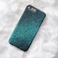 Cute iPhone 6 Case! This Blue/Green Sparkle Glitter iPhone 6 case can be personalized or purchased as is to protect your iPhone 6 in Style!