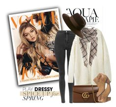 """""""Brown Mix"""" by genuine-people ❤ liked on Polyvore featuring Anja, Maison Michel, Gucci, GUESS, Fall and brown"""