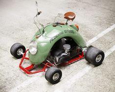 Go Kart Chassis, Olive Green Paints, Fender Bender, Automobile, Kart Racing, Drift Trike, Futuristic Cars, Mini Bike, Vw Beetles