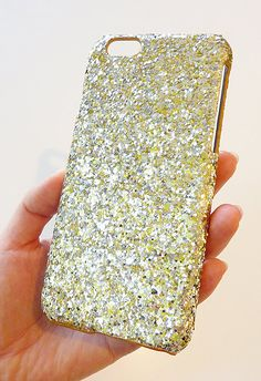 For Apple iPhone 6 4.7 Gold & Silver Specks Sequin Cluster Phone Case by Yunikuna