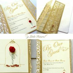 The Paper Company I Used Has These Invitations You Would Just Give Your Wording Amazing Beauty And Beast Wedding
