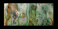 """Art journal page """"under the sea"""""""