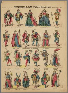 Characters from Cinderella (Epinal, 1850-1900)