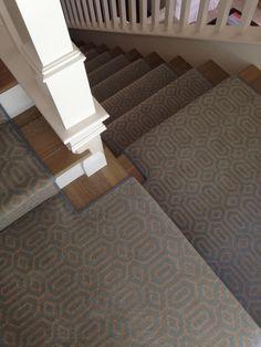 Stanton Miro Ocean Stair Runner Hallway Carpet, Patterned Carpet, Rugs On Carpet, Carpets, Geometric Designs, Home Interior Design, Home Remodeling, Stairs, Design Trends