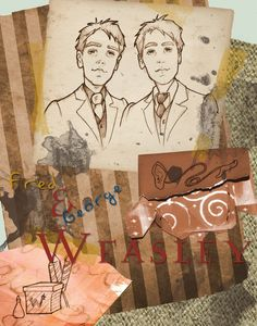 Fred and George Weasley by *Ninidu on deviantART