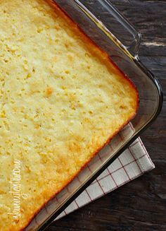 Make-Over Corn Casserole – a lightened up version of the classic