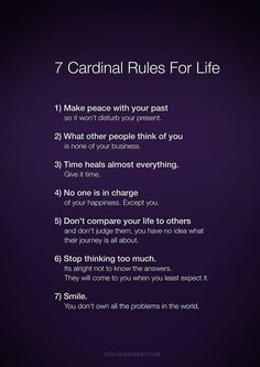 I spotted this in my Facebook newsfeed and although I'm not usually one to pass around these types of things, I found myself agreeing with all the 'rules'..
