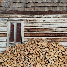 Firewood for the winter - I would love a wood-burning stove.