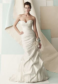 The best fitting fit-n-flare we've ever seen -- Mikaella 1406 featured @ Ellie's Bridal Boutique