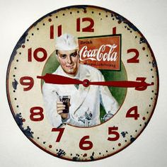 Vintage Coca Cola clock face