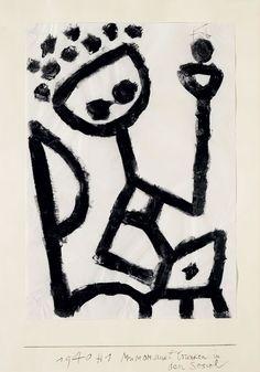 Paul Klee ~ MUMOM, Drunk, Collapses into an Armchair, 1940