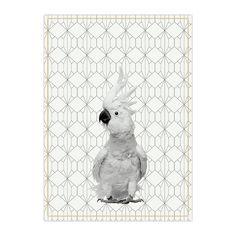 #pt #theedoek #Cockatoo #kaketoe #katoen #print #vogel #vogelprint #presenttime
