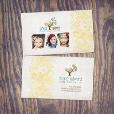 Photography Business Card PSD Template Design  by KayleeBugDesign, $10.00