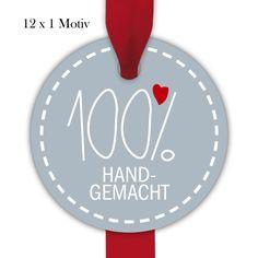 12 herzige, runde Geschenkanhänger   Deko Geschenkkärtchen Format 6,6 x 6,6cm für Selbstgemachtes, in türkis: Hier ist ganz viel Liebe drin! 1