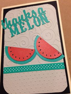 Cricut cartridge: just because cards and cuttle bug folder d'vine swirls and Swiss dots. Cute thank you card