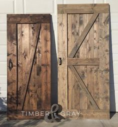 """Beautiful, handcrafted barn doors built to suit your space. Installation services available! SORRY, at this time we DO NOT ship furniture. PRICING Standard 33"""""""