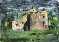 Melgund Castle, Scotland, 1984 by John Piper © The Piper Estate / DACS/Artimage Photo: Luke Piper John Piper Artist, Abstract Painters, Abstract Art, Scotland Castles, Mixed Media Artwork, Green Man, Cool Artwork, Collage Art, Art Sketches