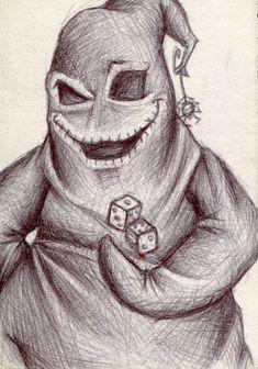 oogie boogie drawing | Oogie Boogie Sketch Card by UnderCoverCottonswab on deviantART