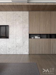 Timber Detail by Artillery Interior Architecture Melbourne Interior Design Blogs, Estilo Interior, Interior Design Companies, Modern Interior, Wall Cladding Interior, Interior Walls, Cladding Design, Tv Feature Wall, Feature Wall Design