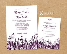 print your own beautiful wedding invitations at home with these free pdf templates - Free Wedding Templates