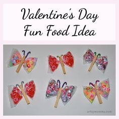 Clothespin Butterfly Fun Food Idea for Valentine's Day