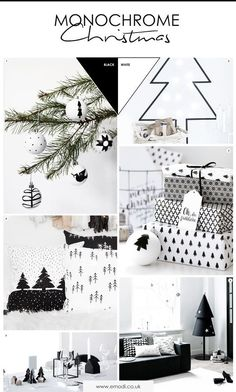 Monochrome Christmas Mood board, Minimalist Christmas styling ideas – The Best DIY Outdoor Christmas Decor Scandi Christmas, Classy Christmas, Minimalist Christmas, Purple Christmas, Christmas Mood, Modern Christmas, Christmas Themes, Coastal Christmas, Christmas Crafts