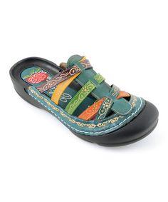 Look at this #zulilyfind! Blue Rock Leather Sandal #zulilyfinds