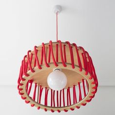 Macaron Oak Lamp, Red -  - Lights - EMKO - Space & Shape - 2
