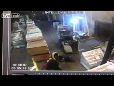 Video: #Forklift Accident at Warehouse Dock